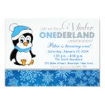 Invitation d'anniversaire d'Onderland d'hiver de