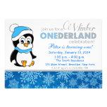 Invitation d'anniversaire d'Onderland d'hiver de f