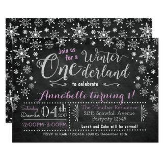 Invitation d'anniversaire d'ONEderland d'hiver de