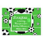 Invitation d'anniversaire du football