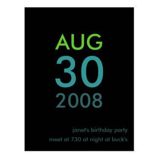- Invitation d'anniversaire - invitation simple Carte Postale