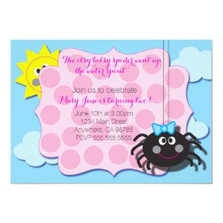 Invitation d'araignée d'Itsy Bitsy