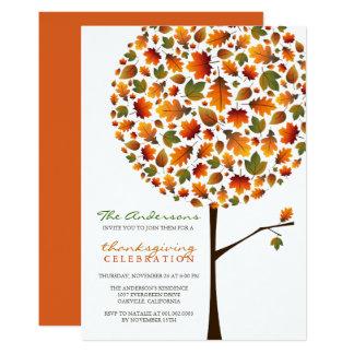 Invitation d'arbre de bruit de feuille d'automne