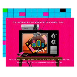 invitation d'arcade de jeu de fête d'anniversaire