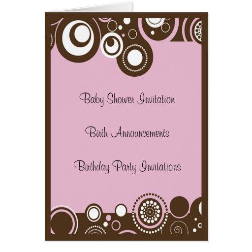 Invitation de baby shower cartes de vœux