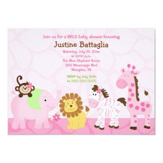Invitation de baby shower customisée par fille de carton d'invitation  11,43 cm x 15,87 cm