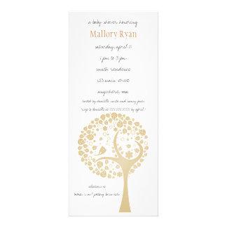 Invitation de baby shower d arbre fleurissant d or