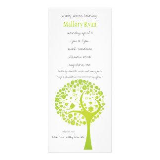 Invitation de baby shower d arbre fleurissant de v