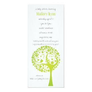 Invitation de baby shower d'arbre fleurissant de