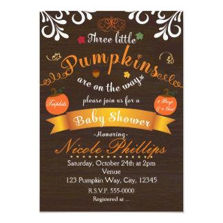 Invitation de BABY SHOWER d'automne de CITROUILLES