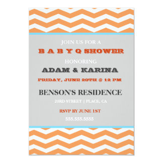 Invitation de baby shower de BabyQ de barbecue de
