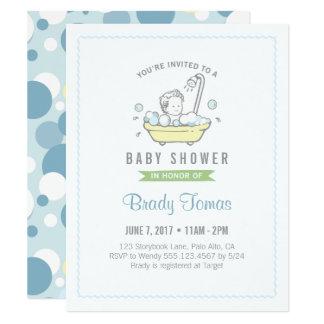 Invitation de baby shower de bain moussant de