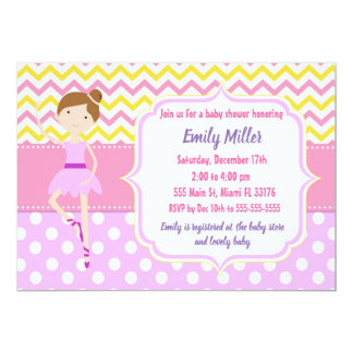 Invitation de baby shower de ballerine