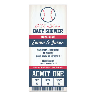 Invitation de baby shower de base-ball