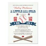 INVITATION DE BABY SHOWER DE BASE-BALL D'ALL STAR