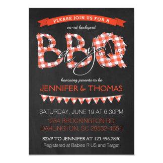 Invitation de baby shower de BBQ