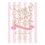 Invitation de baby shower de bébé de sucre et