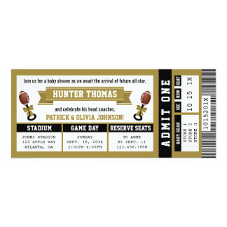 Invitation de baby shower de billet de sports,