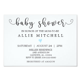 Invitation de baby shower de BlueHeart