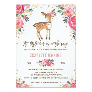 Invitation de baby shower de cerfs communs de