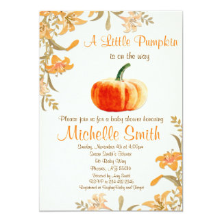 Invitation de baby shower de citrouille, peu de