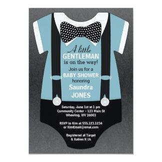 Invitation de baby shower de cravate d'arc,