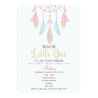 Invitation de baby shower de Dreamcatcher Boho