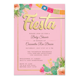 Invitation de baby shower de fiesta