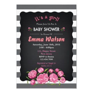 Invitation de baby shower de fleur