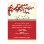 Invitation de baby shower de fleurs de cerisier (r