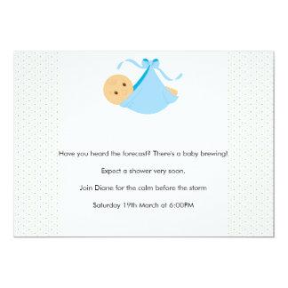 Invitation de baby shower de garçon