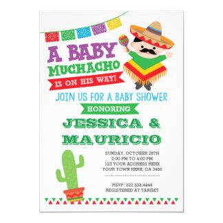 Invitation de baby shower de garçon de fiesta