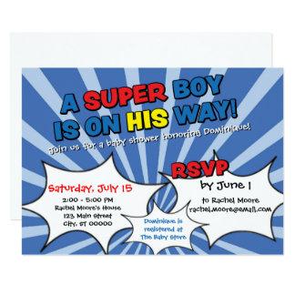 Invitation de baby shower de garçon de superhéros