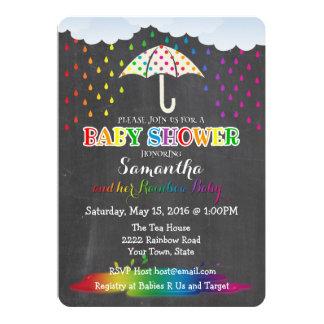 Invitation de baby shower de gouttes de pluie