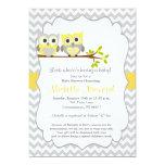 Invitation de baby shower de hibou carton d'invitation  12,7 cm x 17,78 cm