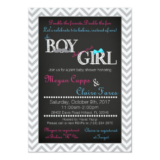 Invitation de baby shower de joint de fille de