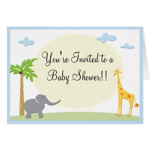 Invitation de baby shower de jungle carte