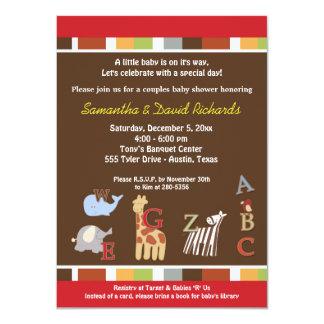 Invitation de baby shower de jungle de soupe à carton d'invitation  11,43 cm x 15,87 cm