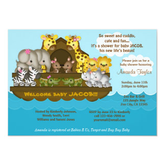 Invitation de baby shower de l'arche de Noé