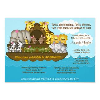 Invitation de baby shower de l'arche de Noé de