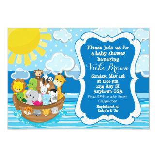 Invitation de baby shower de l'arche de Noé fait