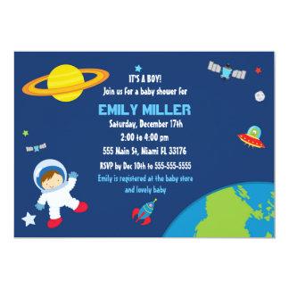 Invitation de baby shower de l'espace d'astronaute