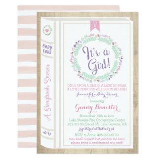 Invitation de baby shower de livre d'histoire