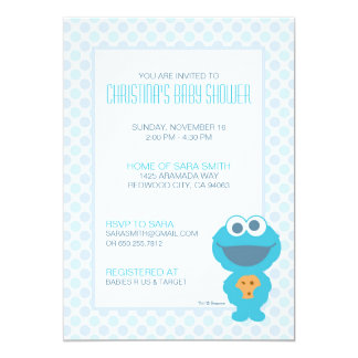 Invitation de baby shower de monstre de biscuit