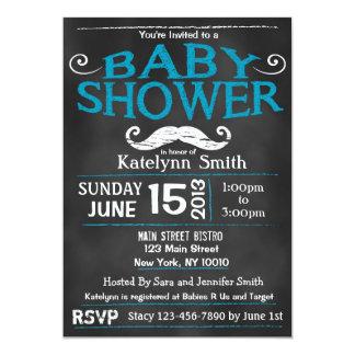 Invitation de baby shower de moustache de tableau