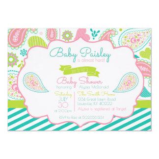 Invitation de baby shower de Paisley