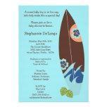 invitation de baby shower de panneaux de surf de b