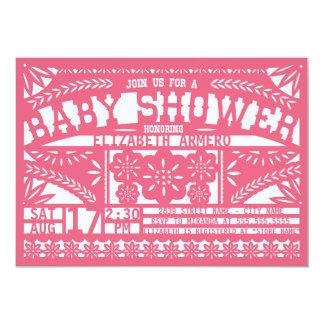 Invitation de baby shower de Papel Picado