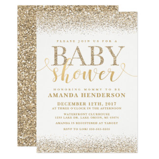Invitation de baby shower de parties scintillantes