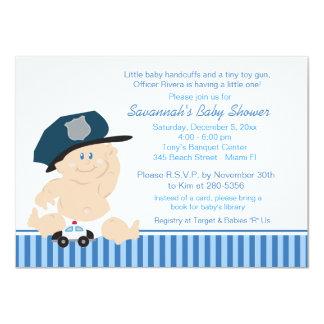 Invitation de baby shower de policier de cannette carton d'invitation  11,43 cm x 15,87 cm